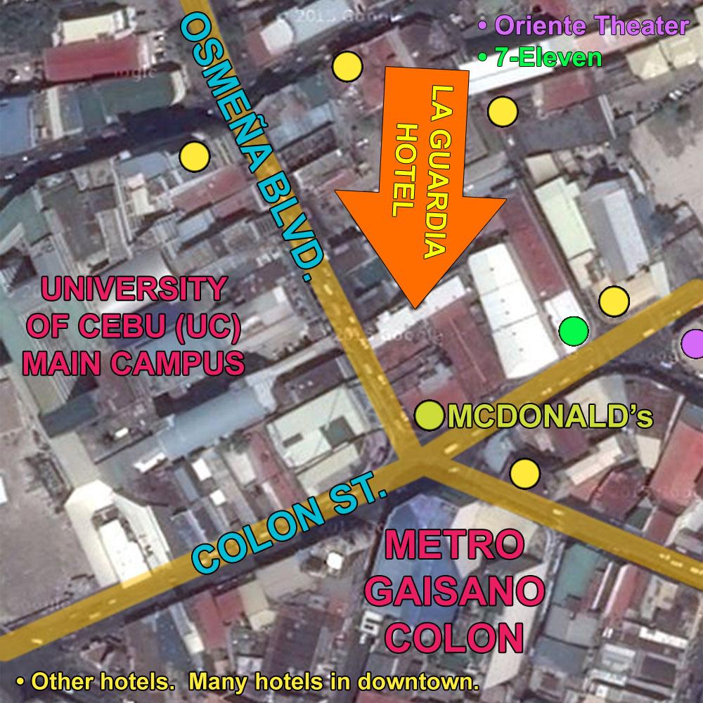La Guardia Hotel Cebu Location Map many Google Map Directions